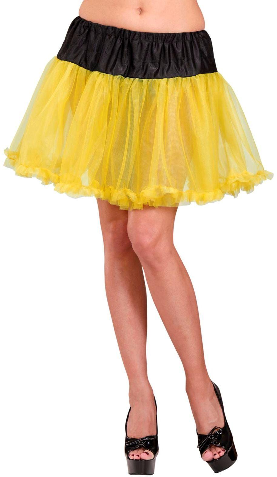 Zwart gele petticoat