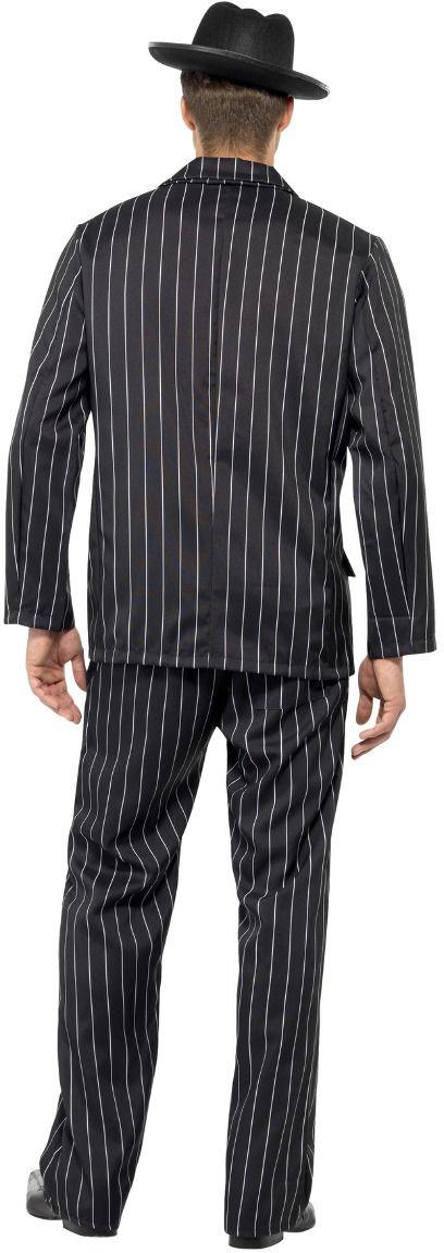 Zwart gestreepte gangsters 20s kostuum