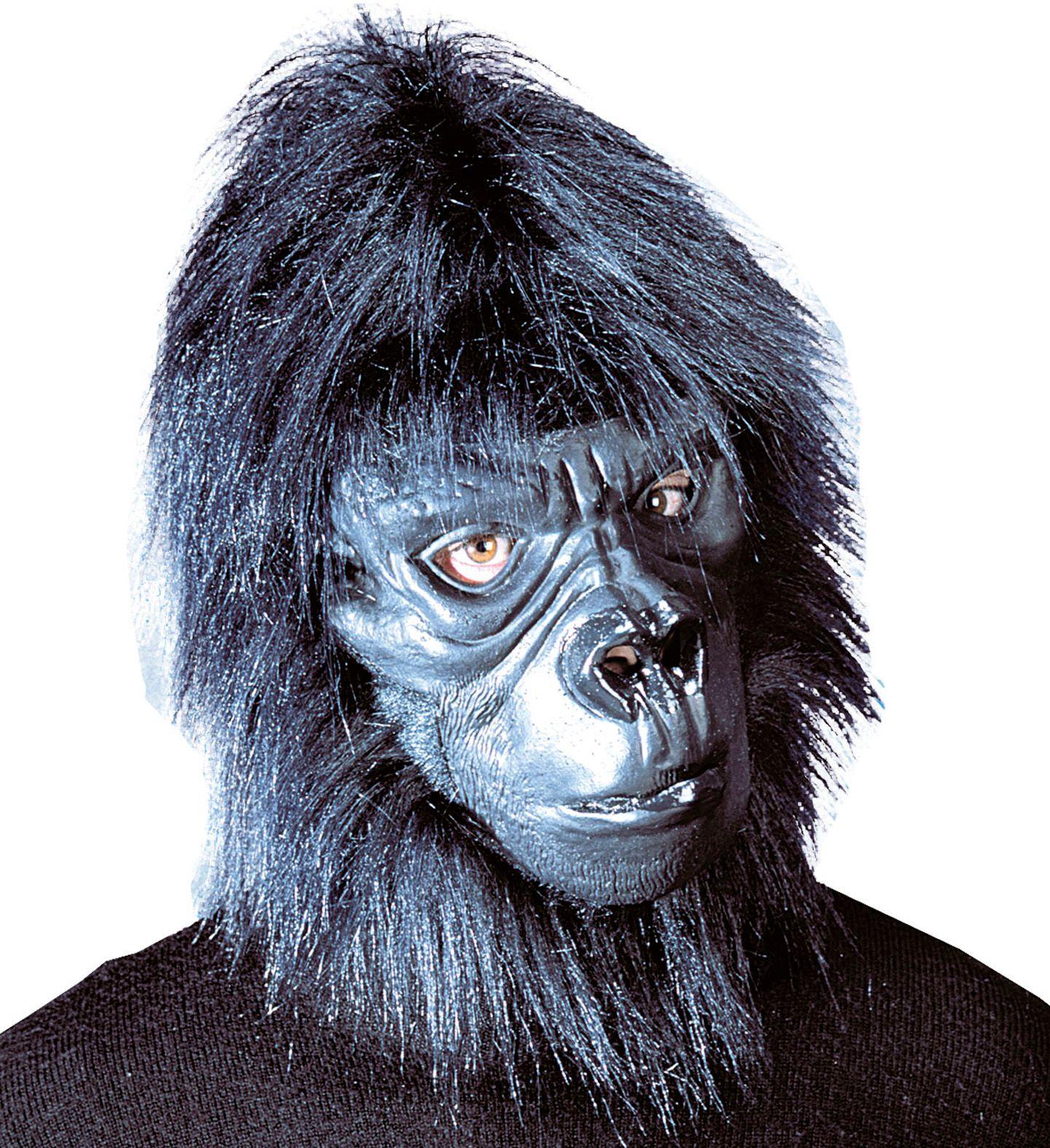 Zwart gorilla masker