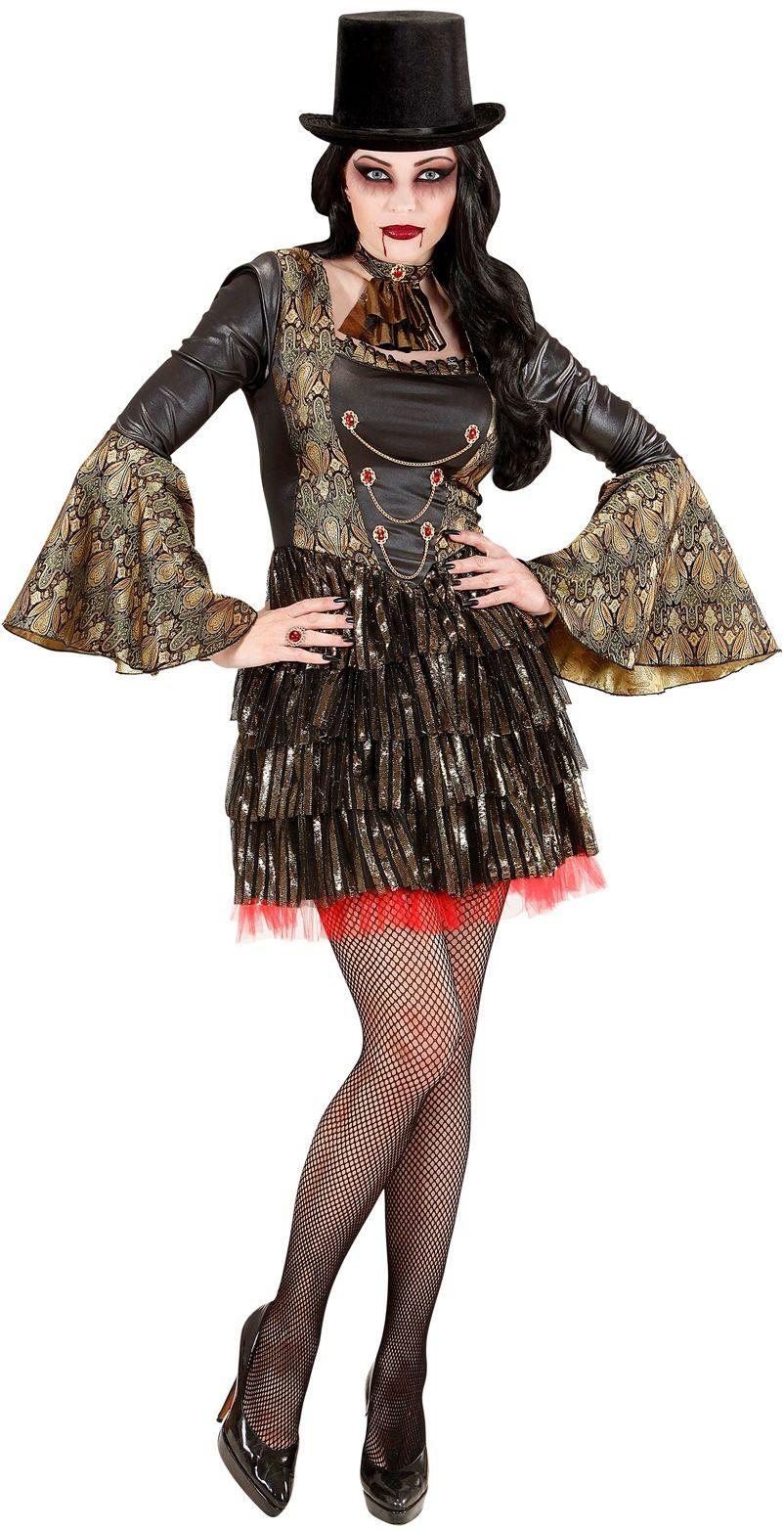 Zwart gotisch vampier pak