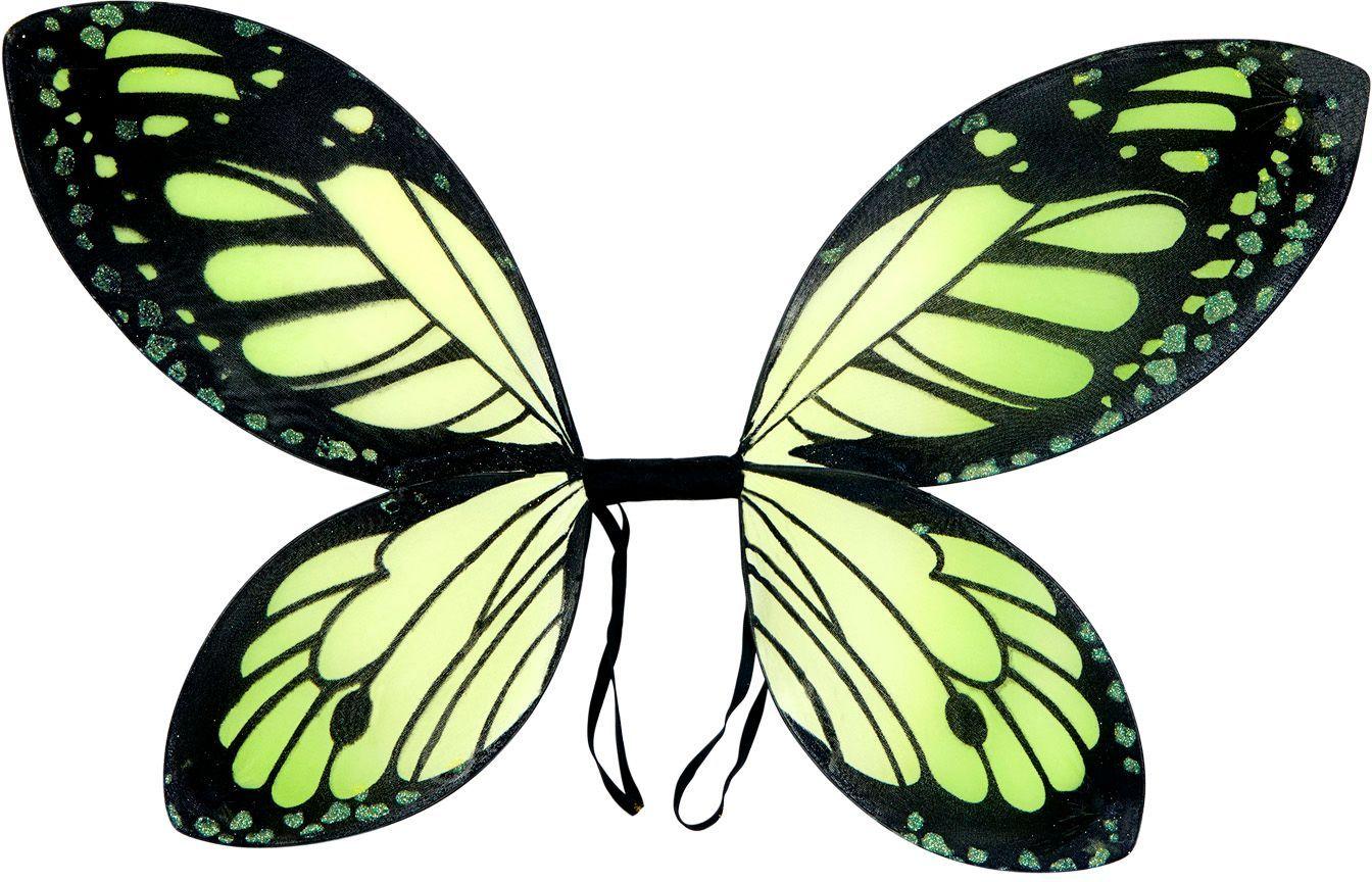 Zwart-groene vlinder vleugels kind