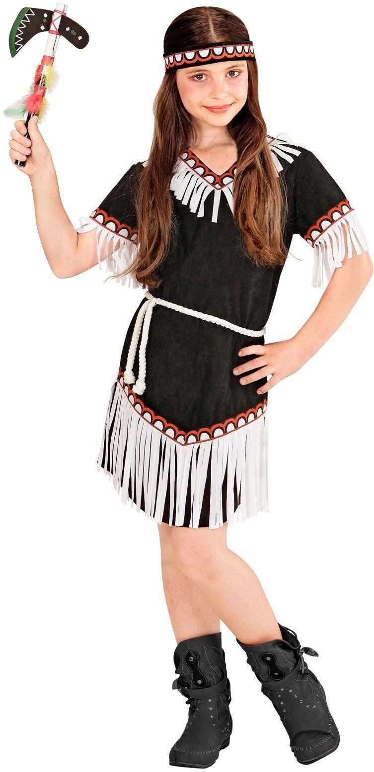 Zwart indianen pak meisje