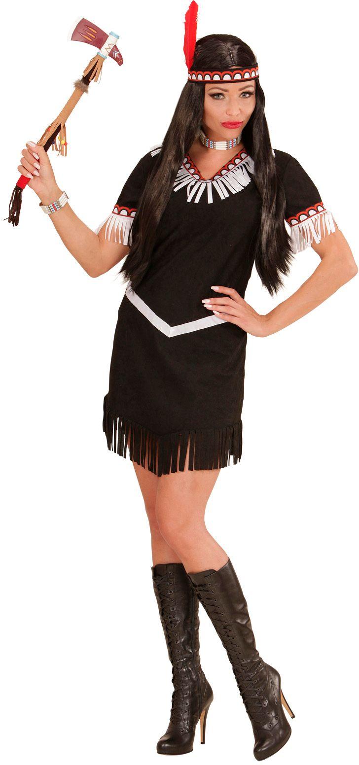 Zwart indianen pak vrouw