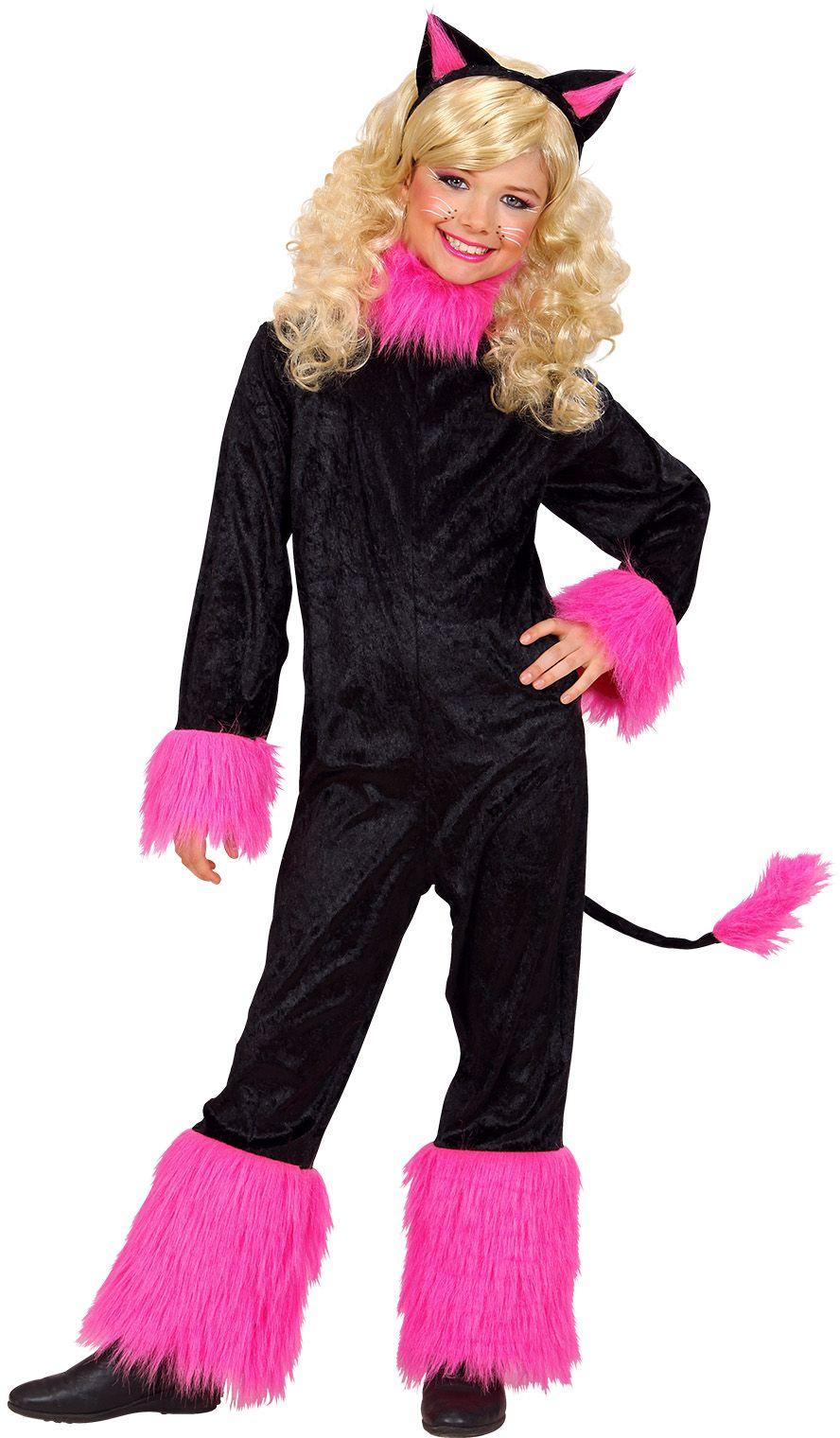 Zwart klein katje kostuum