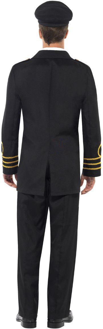 Zwart marine officiers kostuum