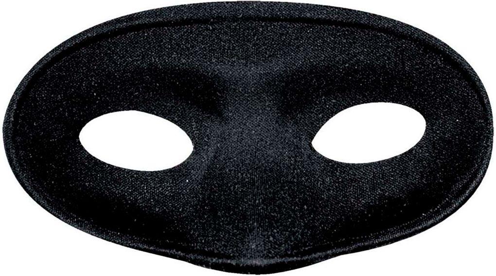 Zwart maskerade oogmasker