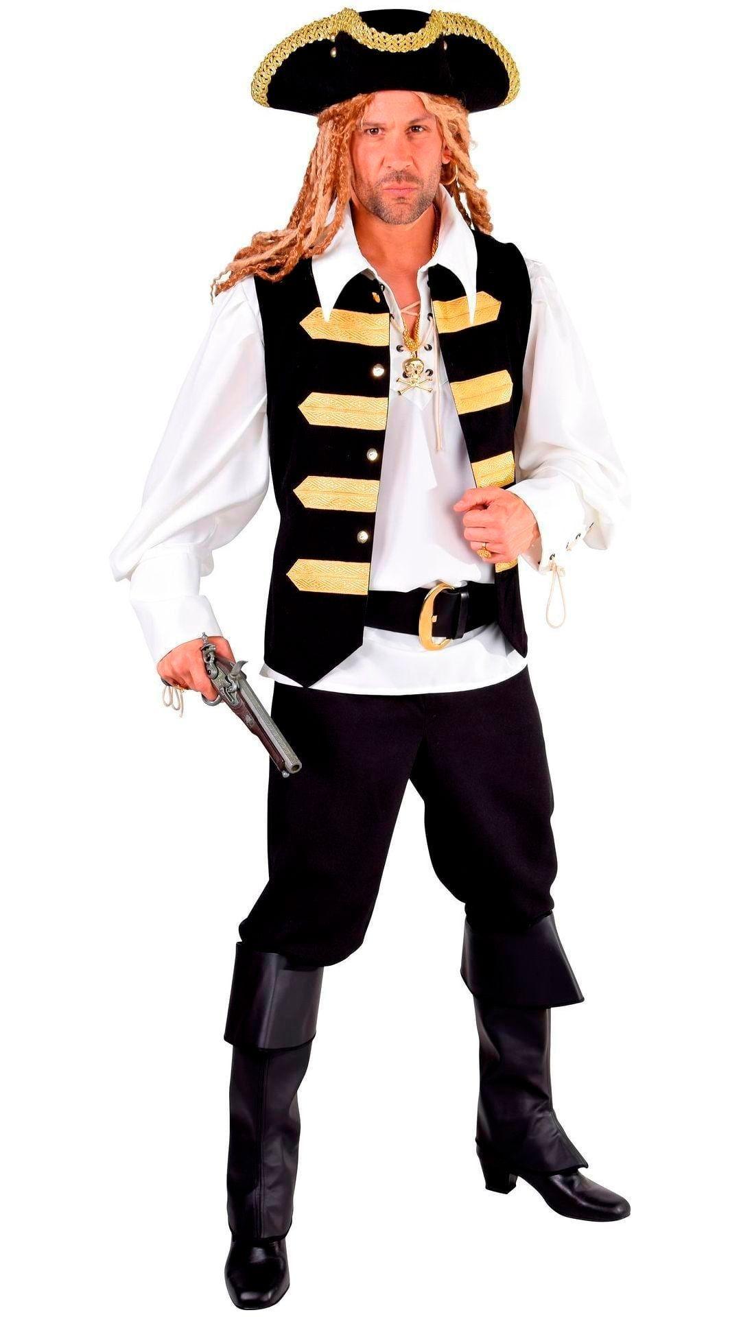 Zwart met goud admiraals vest mannen