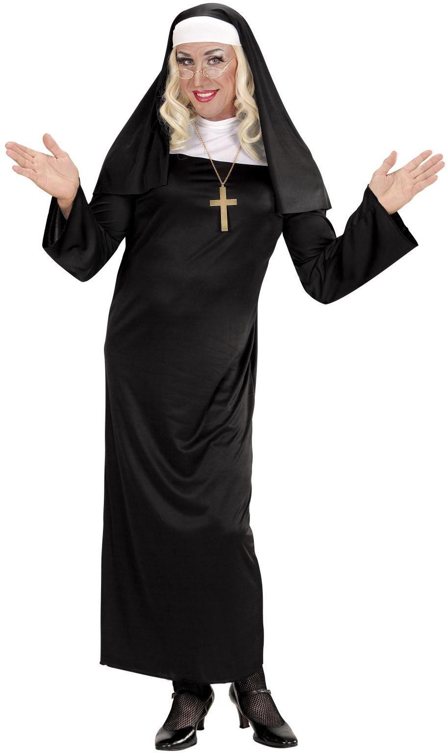 Zwart nonnen kostuum