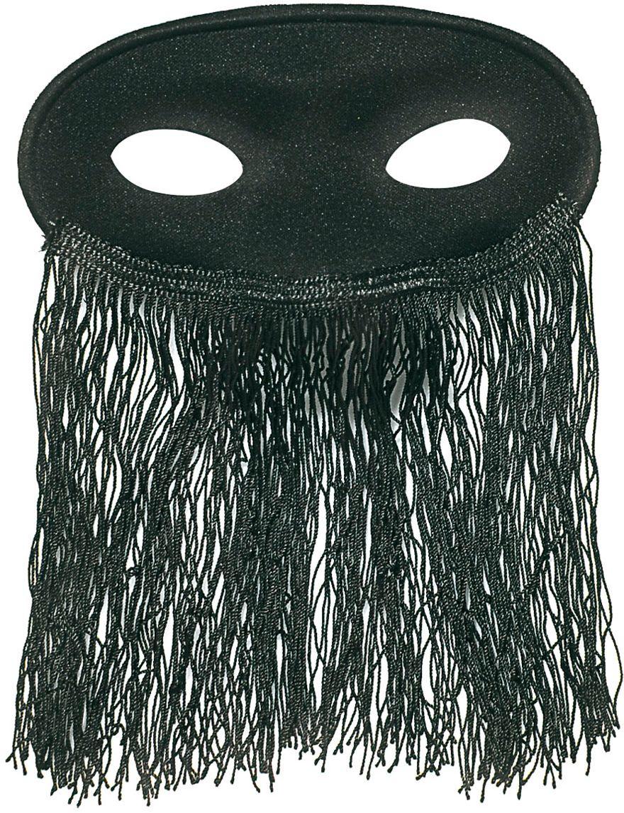 Zwart odalisk oogmasker
