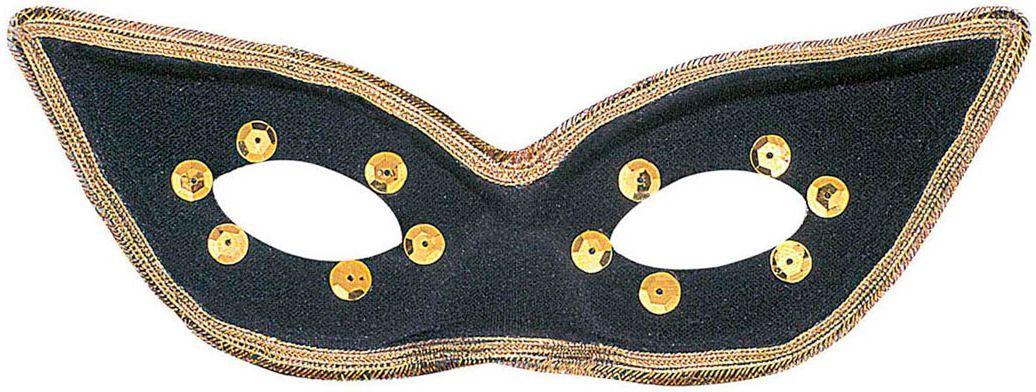 Zwart oogmasker carnaval