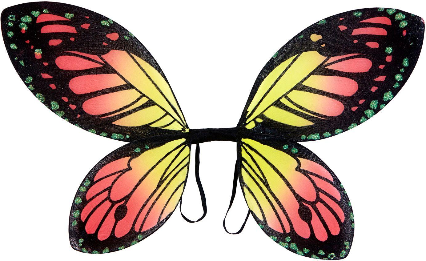 Zwart-oranje-gele vlinder vleugels kind