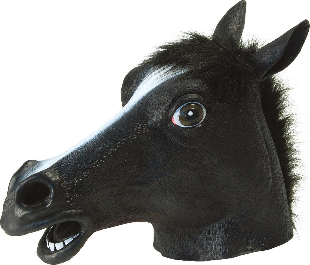Zwart paarden masker