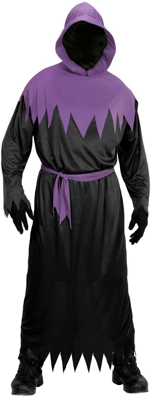 Zwart paars spook kostuum
