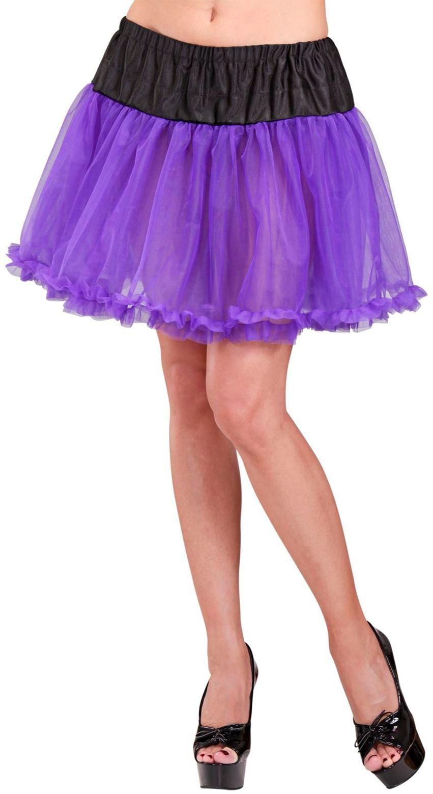 Zwart paarse petticoat