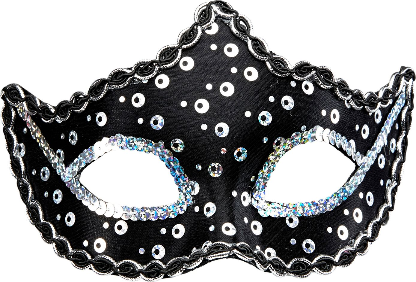 Zwart pailletten Rialto oogmasker