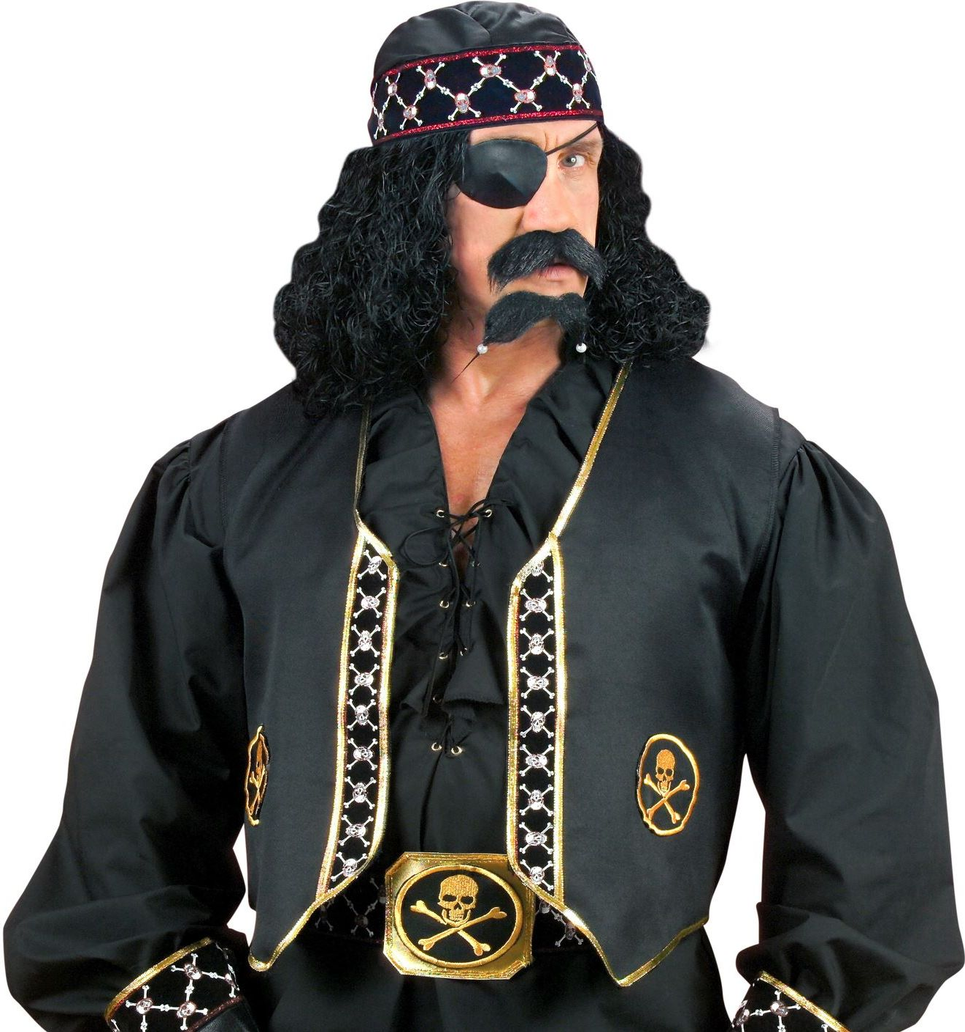 Zwart pailletten vest