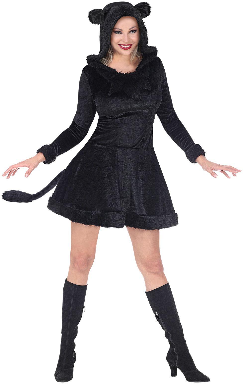 Zwart panter jurkje dames