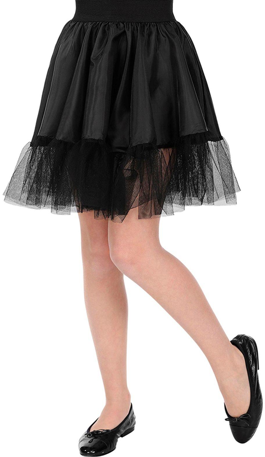 Zwart petticoat rokje meisje