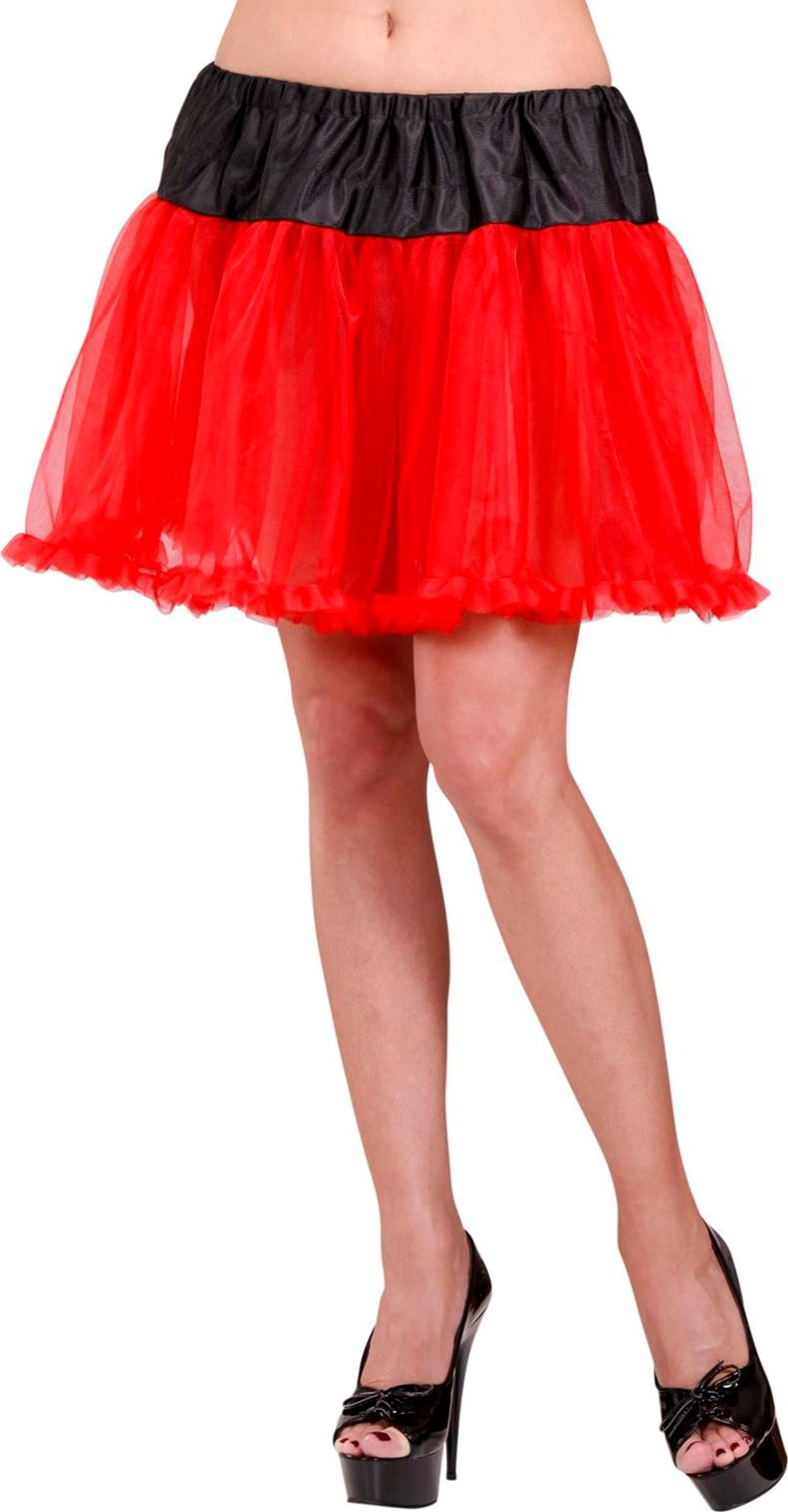 Zwart rode petticoat