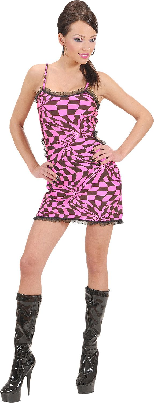 Zwart/roze jurkje kostuum