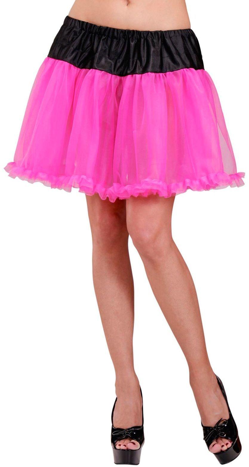 Zwart roze petticoat