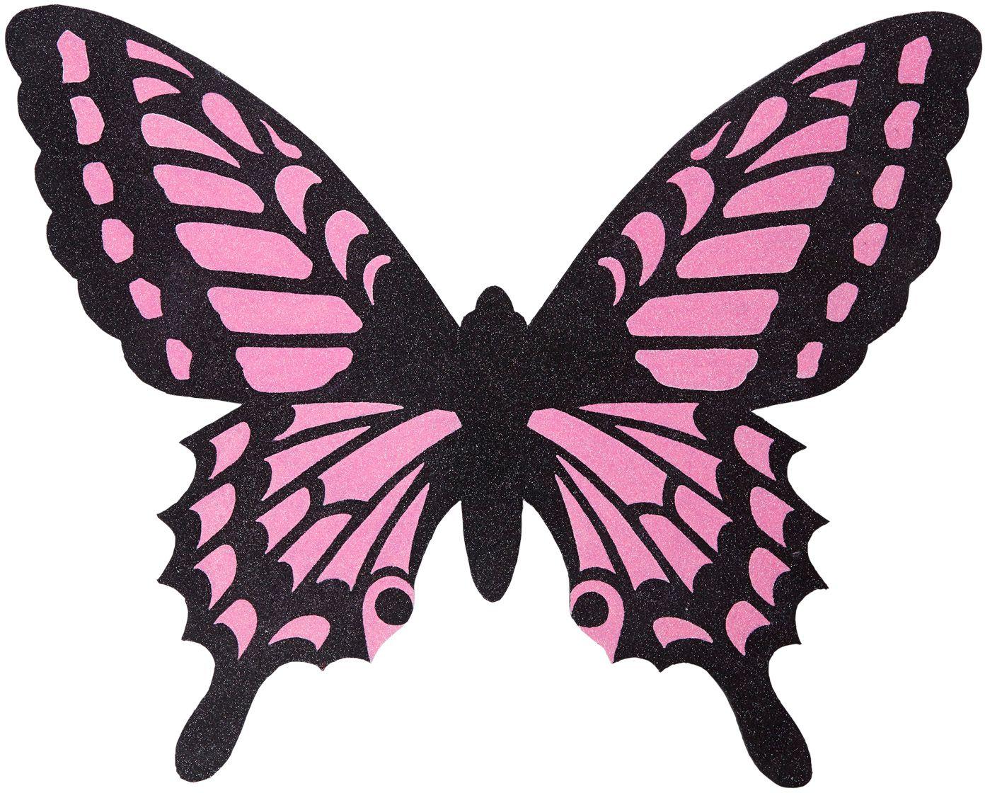 Zwart roze vlinder vleugels