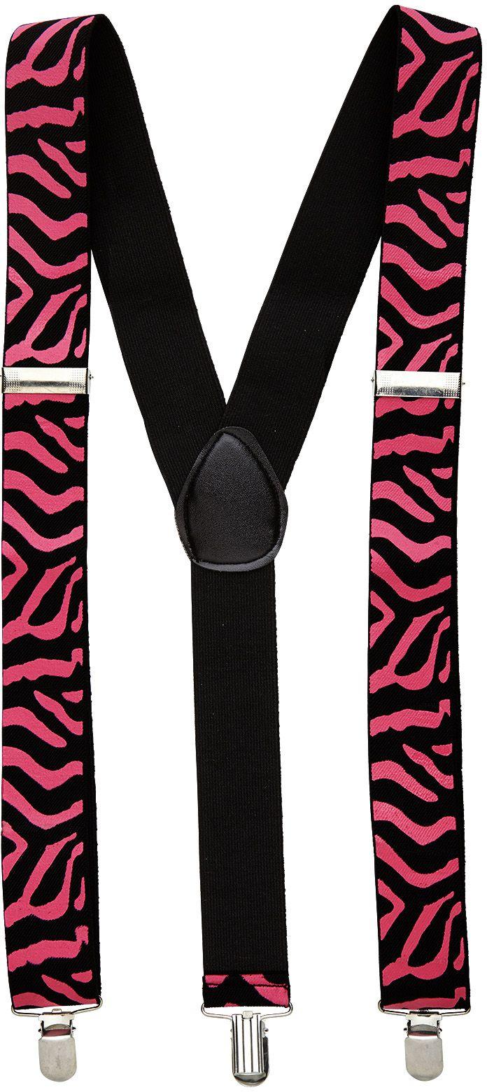 Zwart roze zebra riem