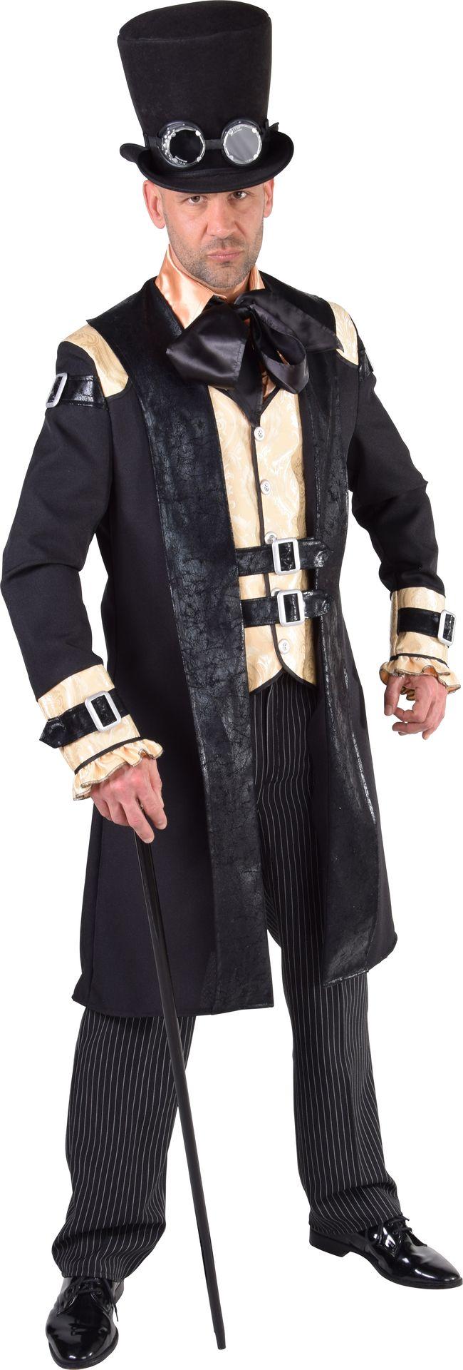 Zwart steampunk kostuum heren