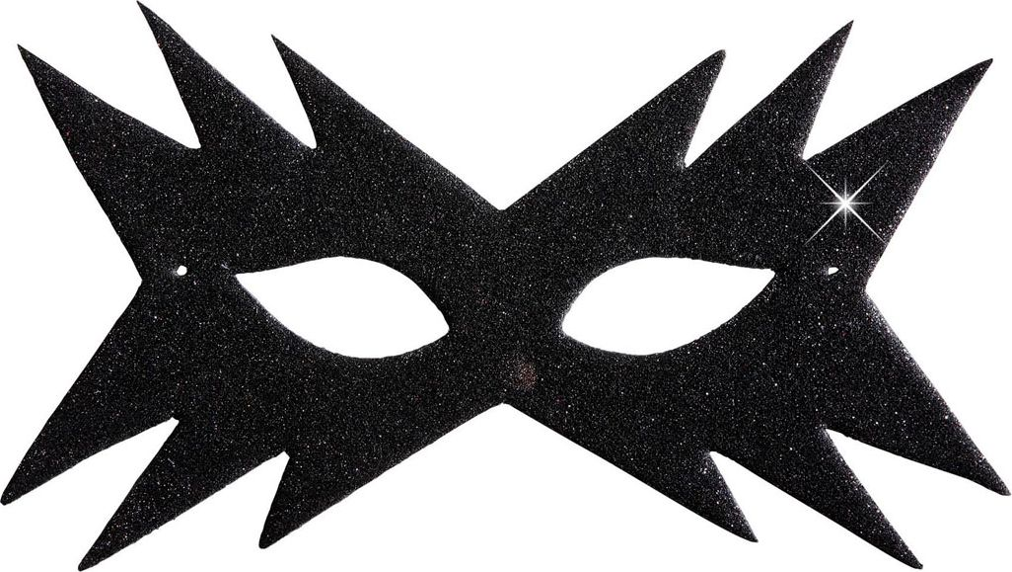 Zwart sterren oogmasker
