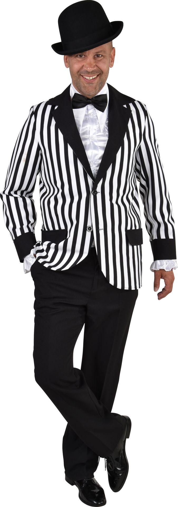 Zwart wit disco kostuum mannen