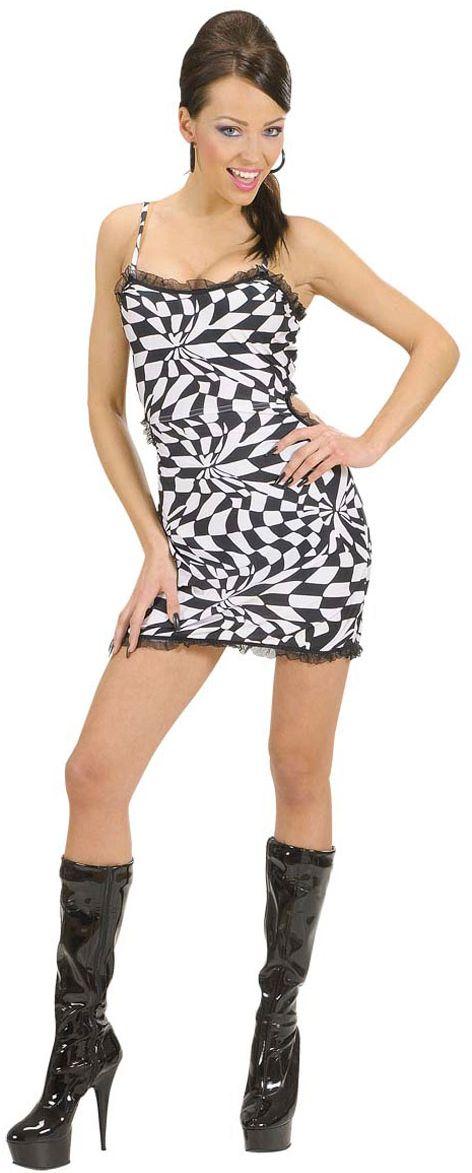 Zwart/wit jurkje kostuum
