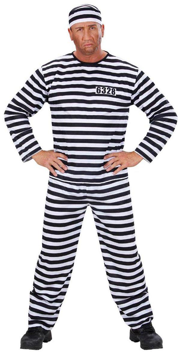 Zwart wit Kostuum Gevangene