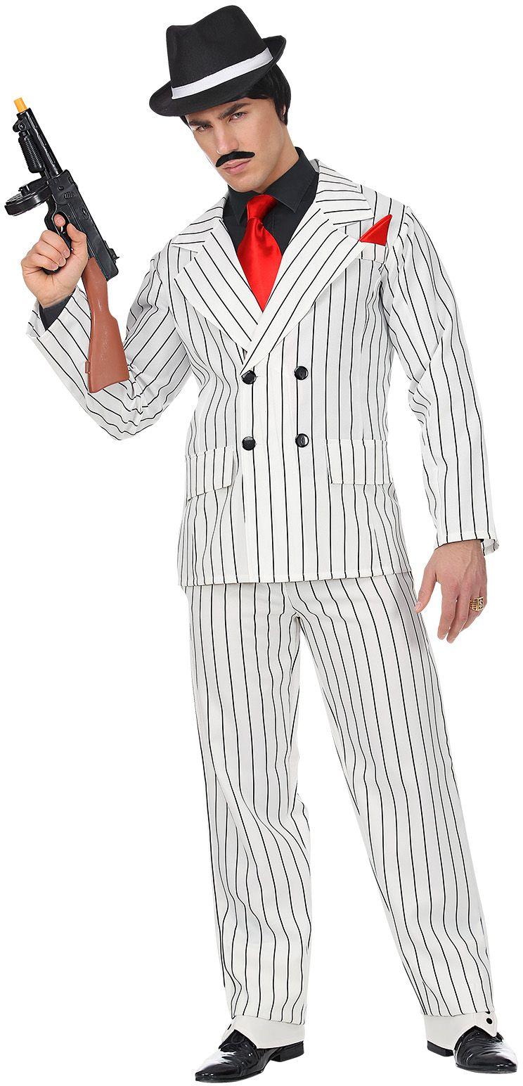 Zwart wit maffia pak