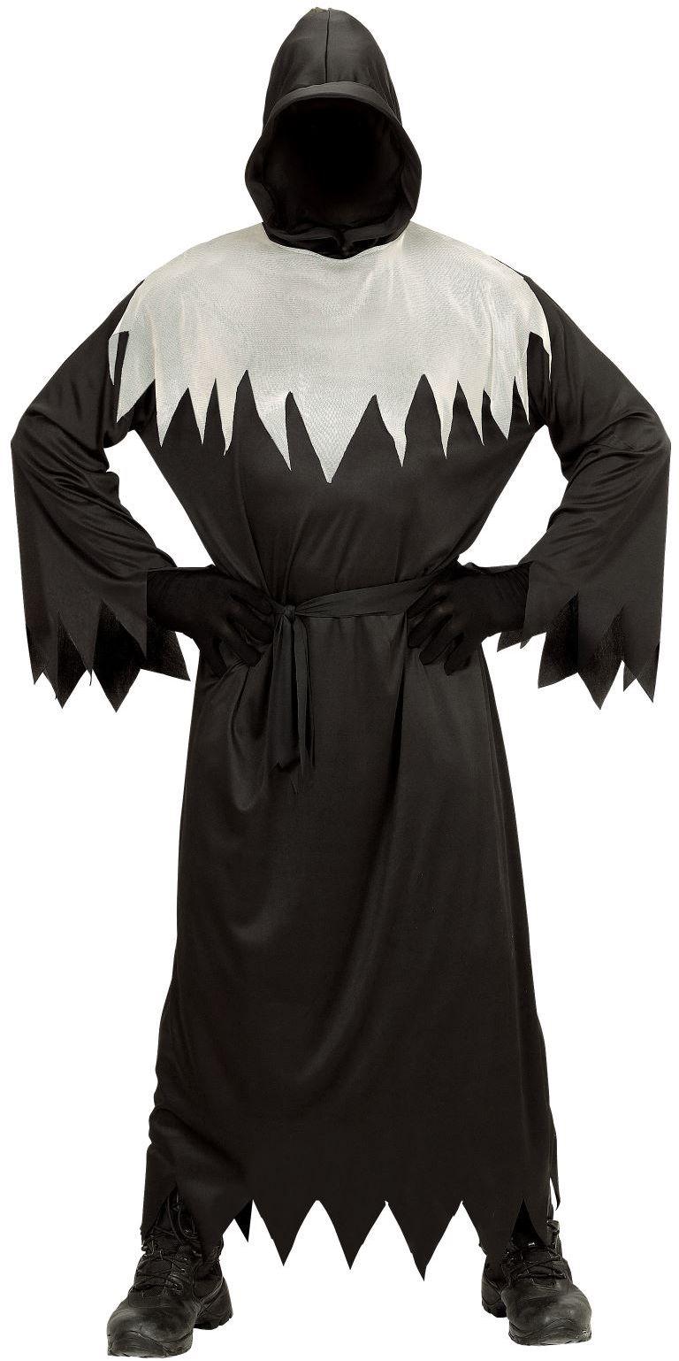 Zwart wit spook kostuum