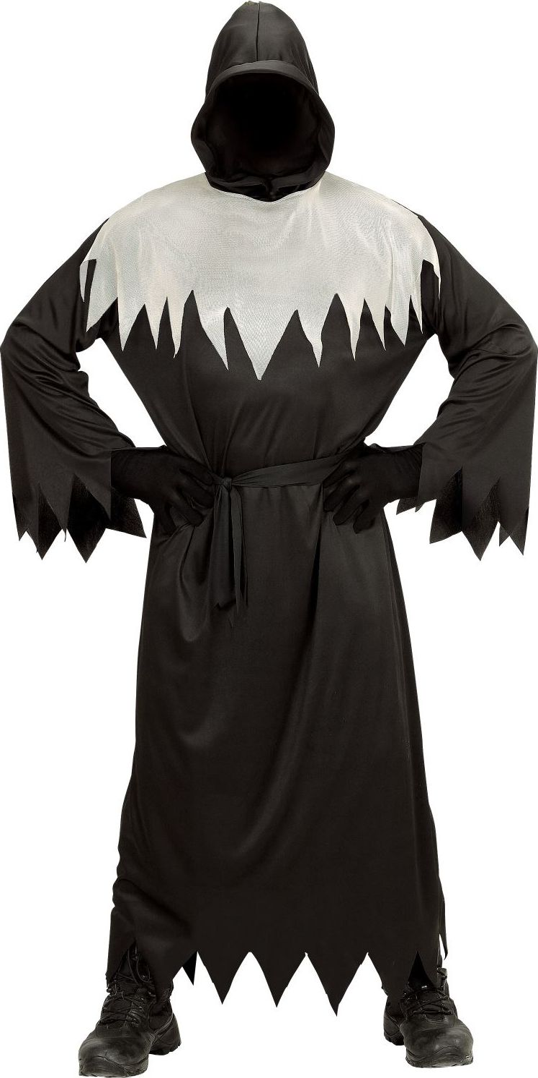 Zwart wit spook kostuum kind
