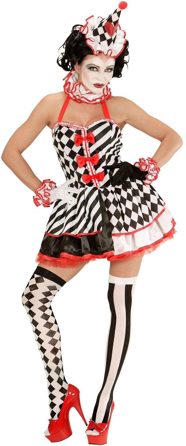 Zwart witte Killer Clown dames