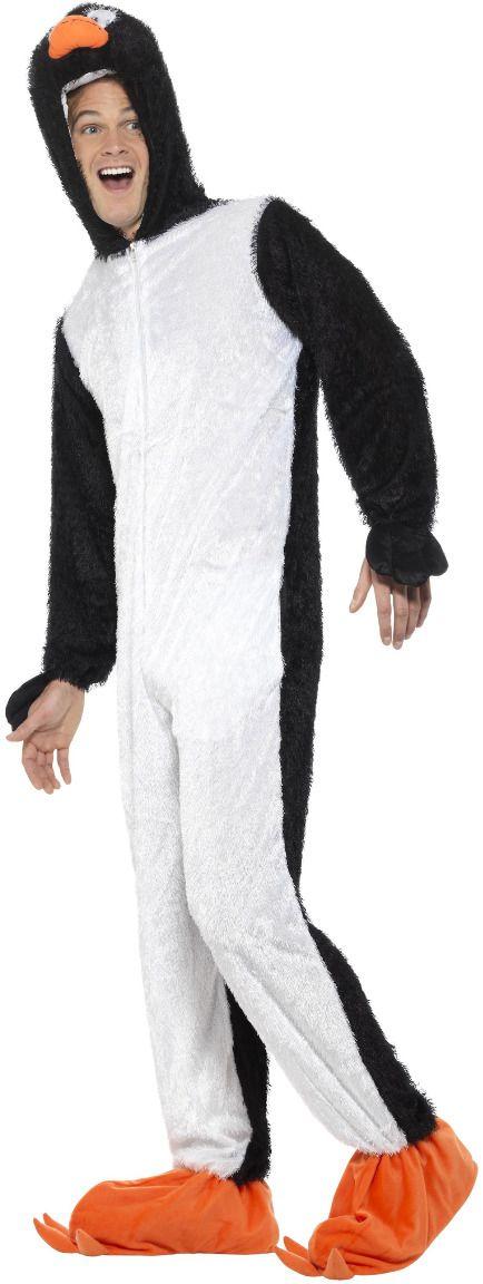 Zwart witte pinguin onesie