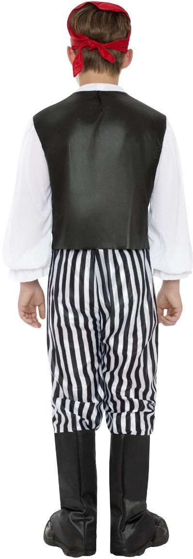 Zwart witte piraten kind outfit
