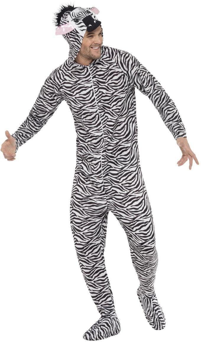 Zwart witte zebra onesie