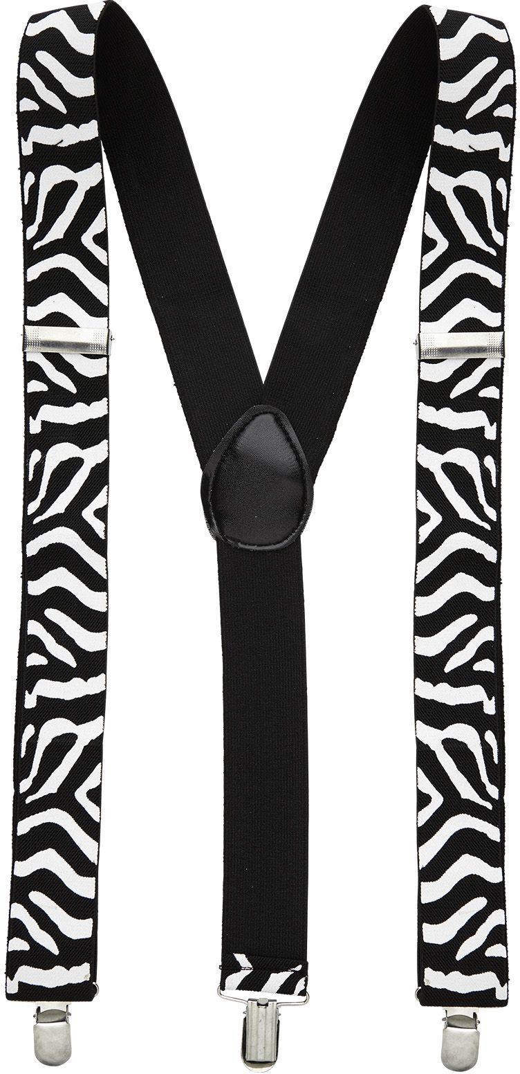 Zwart witte zebra riem