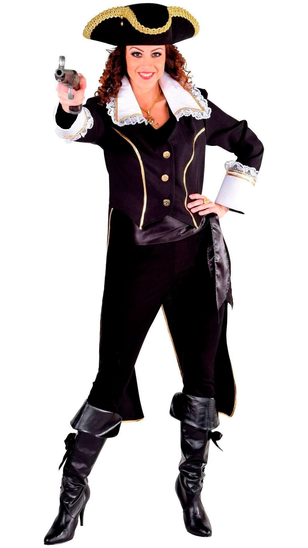 Zwarte admiraal slipjas dames