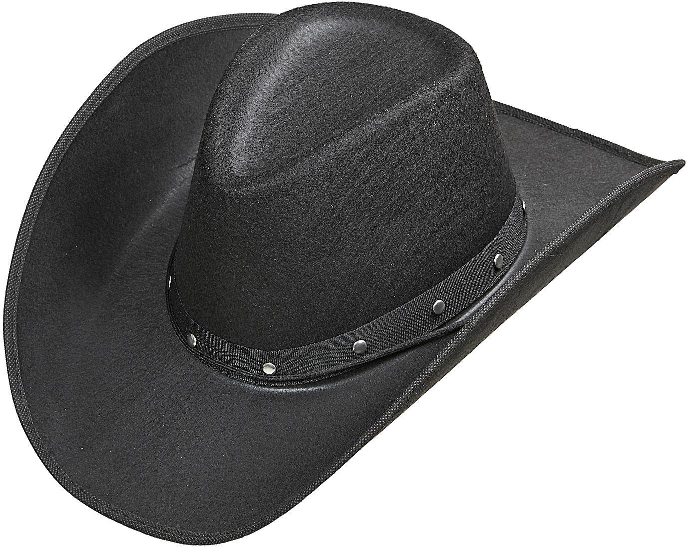 Zwarte beslagen cowboyhoed