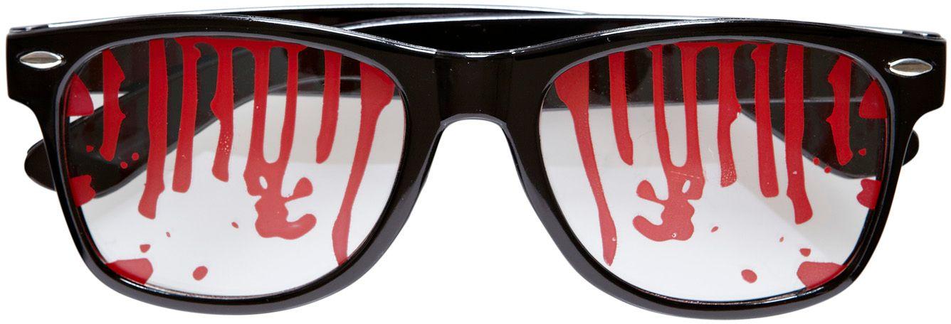 Zwarte bloederige bril