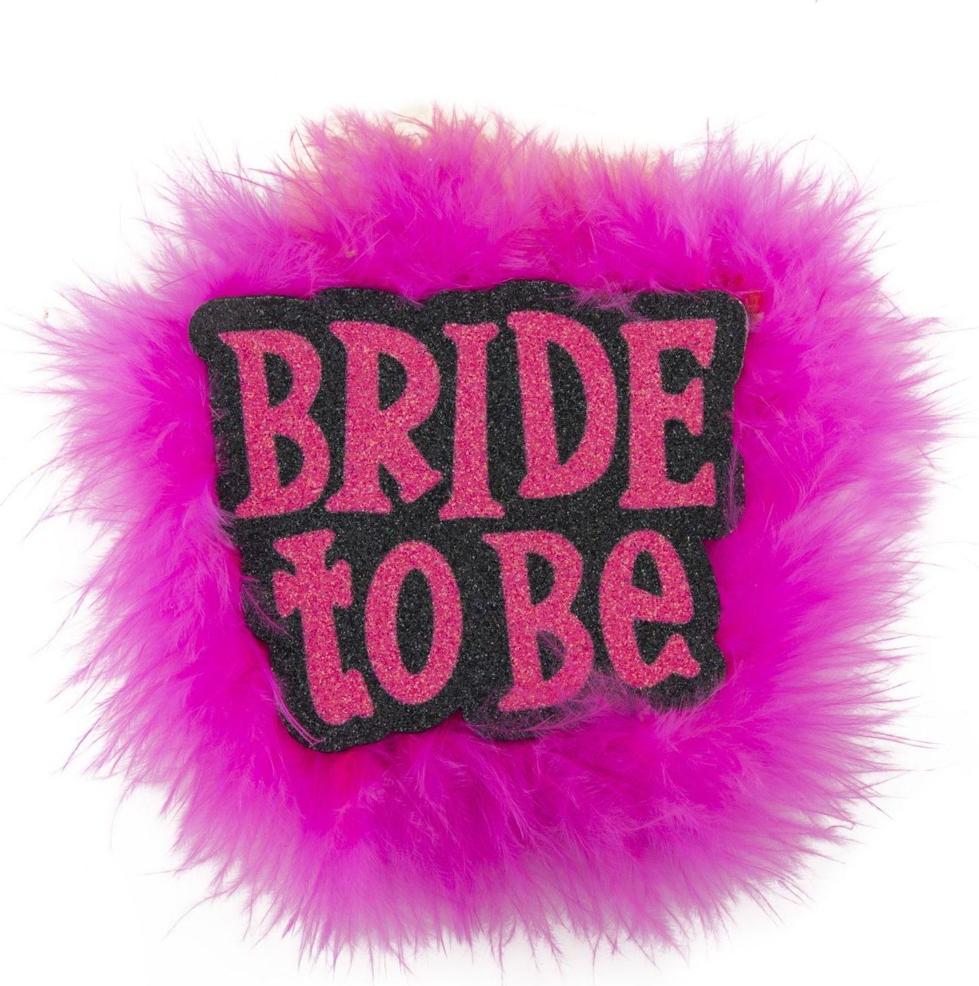 Zwarte Bride-to-be broche
