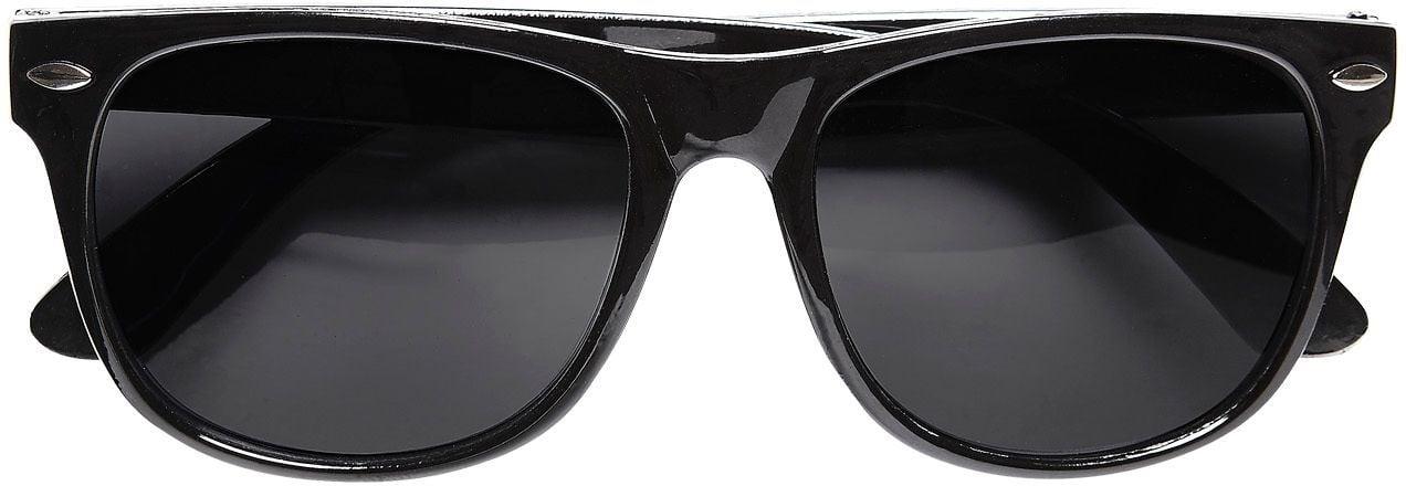 Zwarte bril donkere glazen