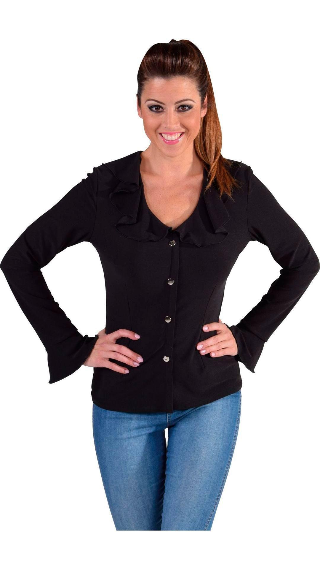 Zwarte carnavals blouse dames