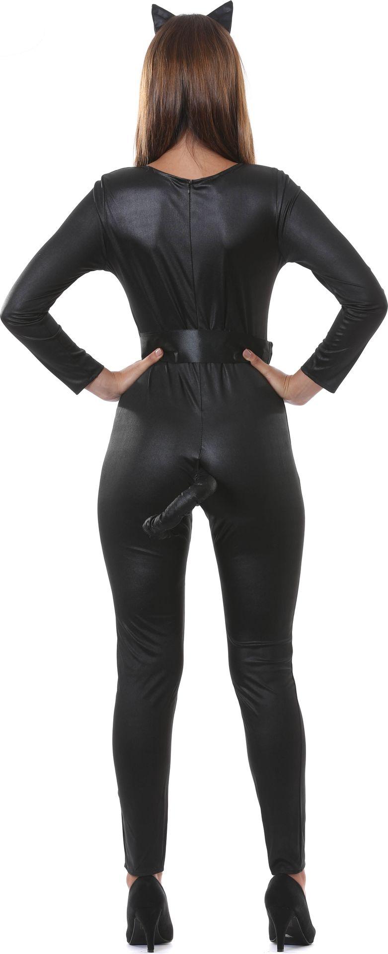 Zwarte catsuit