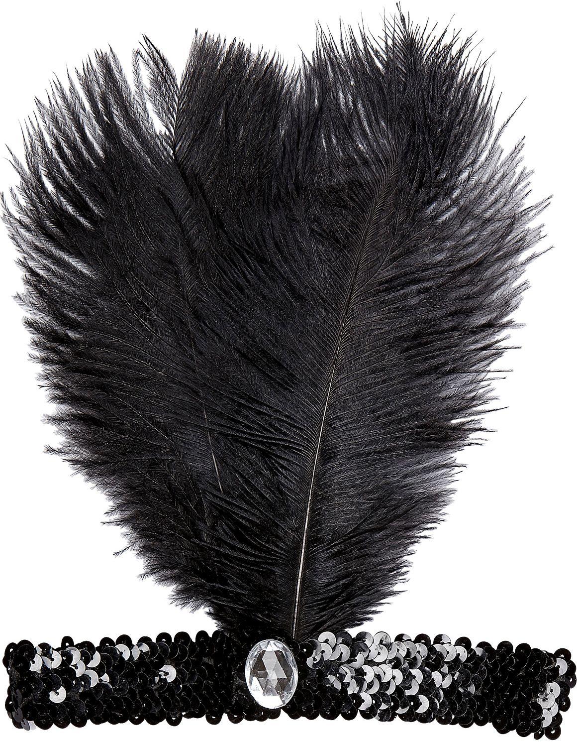 Zwarte charleston hoofdband