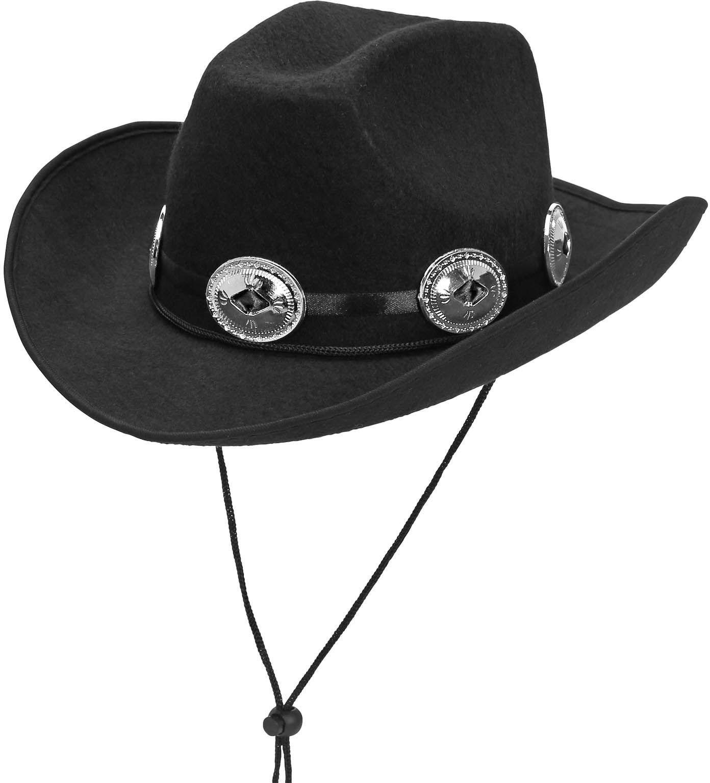 Zwarte cowboy hoed mannen