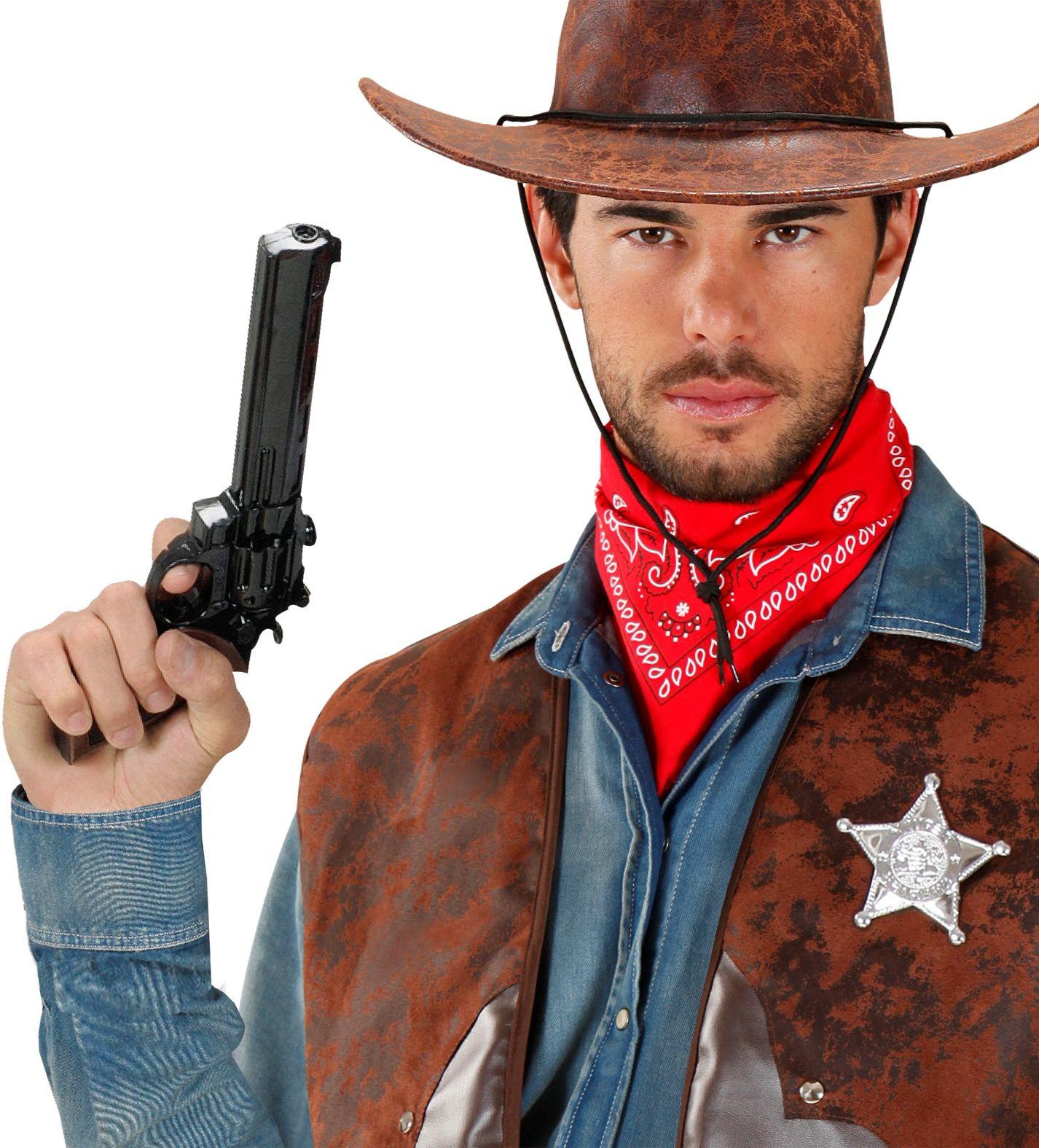 Zwarte cowboy revolver